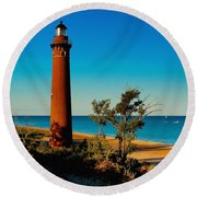 Little Sable Point Round Beach Towel