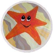 Little Starfish Round Beach Towel