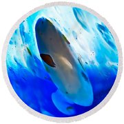 Little Swimmers Round Beach Towel