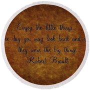 Little Things Round Beach Towel
