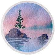 Little Trees Round Beach Towel