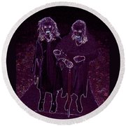 Little Vampires Round Beach Towel