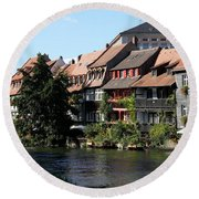 Little Venice - Bamberg - Germany Round Beach Towel