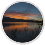 Little Washoe Sunset II Round Beach Towel