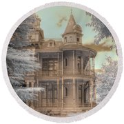 Littlefield Mansion Round Beach Towel