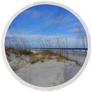 Little Talbot Sand Dunes Round Beach Towel