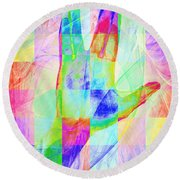 Live Long And Prosper 20150302v1 Color Squares Sq Round Beach Towel