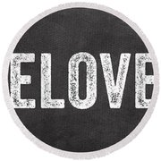 Live Love Eat Round Beach Towel