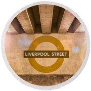 Liverpool Street Underground Round Beach Towel
