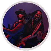 Living Colour Painting Round Beach Towel