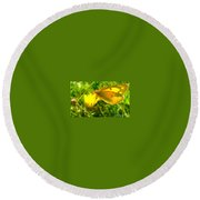 Living In The Light Round Beach Towel