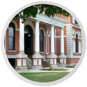 Livingston County Courthouse 05 Pontiac Il Round Beach Towel