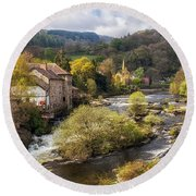 Llangollen And The River Dee Round Beach Towel