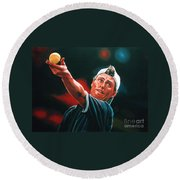 Lleyton Hewitt 2  Round Beach Towel by Paul Meijering