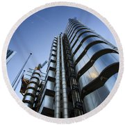 Lloyd's Building. Round Beach Towel