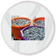 Loaves And Fishes Round Beach Towel
