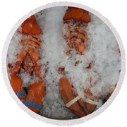 Lobster At Woodman's Round Beach Towel