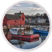 Lobster Boats At Motif 1 Round Beach Towel