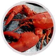 Lobster Round Beach Towel