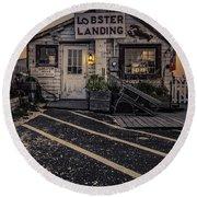 Lobster Landing Shack Restaurant At Sunset Round Beach Towel