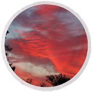 Lobster Sky Round Beach Towel