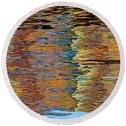 Lobster Trap Reflections Round Beach Towel