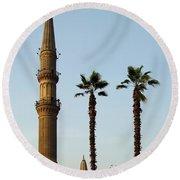 Local Cairo Mosque 02 Round Beach Towel