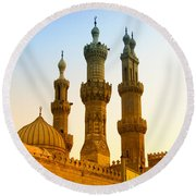 Local Cairo Mosque 05 Round Beach Towel