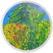 Local Trees Round Beach Towel