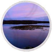 Loch Dunvegan At Sunrise Round Beach Towel