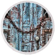 Locked And Chained Round Beach Towel