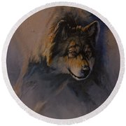 Locked On Target Round Beach Towel by Mia DeLode