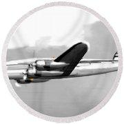 Lockheed Constellation Round Beach Towel