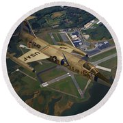 Lockheed F-104 Starfighter Round Beach Towel