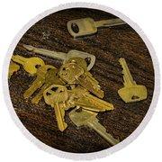 Locksmith - Rejected Keys Round Beach Towel