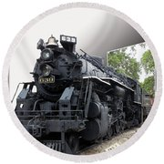 Locomotive 639 Type 2 8 2 Out Of Bounds Round Beach Towel