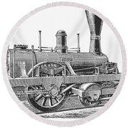 Locomotive Sandusky, 1837 Round Beach Towel