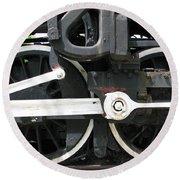 Locomotive Wheels Round Beach Towel