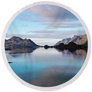 Lofoten Islands Water World Round Beach Towel