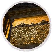 Loge Of The Sultan In Hagia Sophia  Round Beach Towel