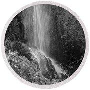 Loja Waterfall Mono Round Beach Towel