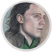 Loki From The Avengers Round Beach Towel