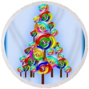Lollipop Tree Round Beach Towel