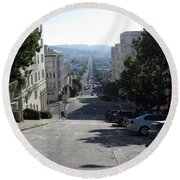 Lombard Street. San Francisco 2010 Round Beach Towel