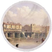 London Bridge, 1835 Round Beach Towel