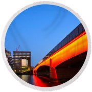 London Bridge. Round Beach Towel