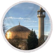 London Central Mosque Round Beach Towel