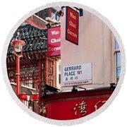 London Chinatown 02 Round Beach Towel