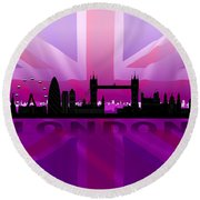 London City Round Beach Towel