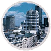 London England Round Beach Towel by Panoramic Images